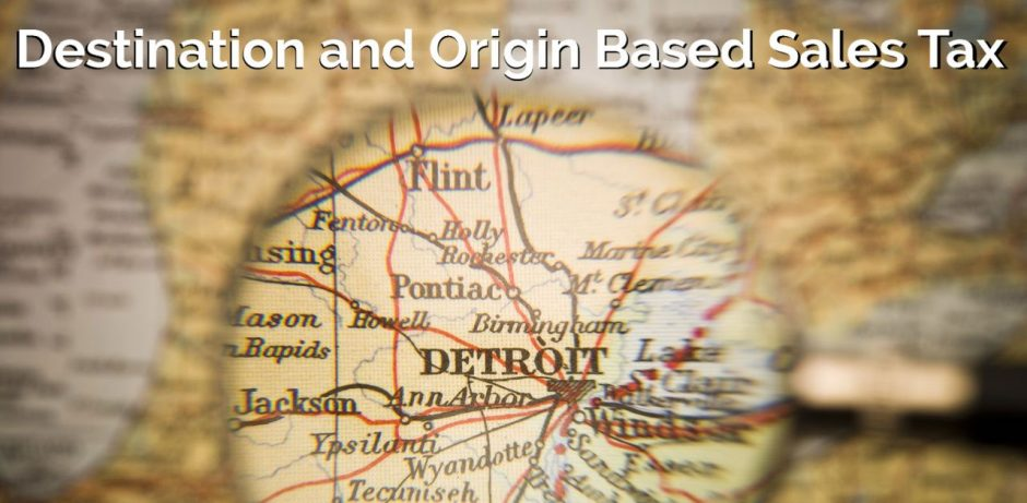 destination and origin based sales tax