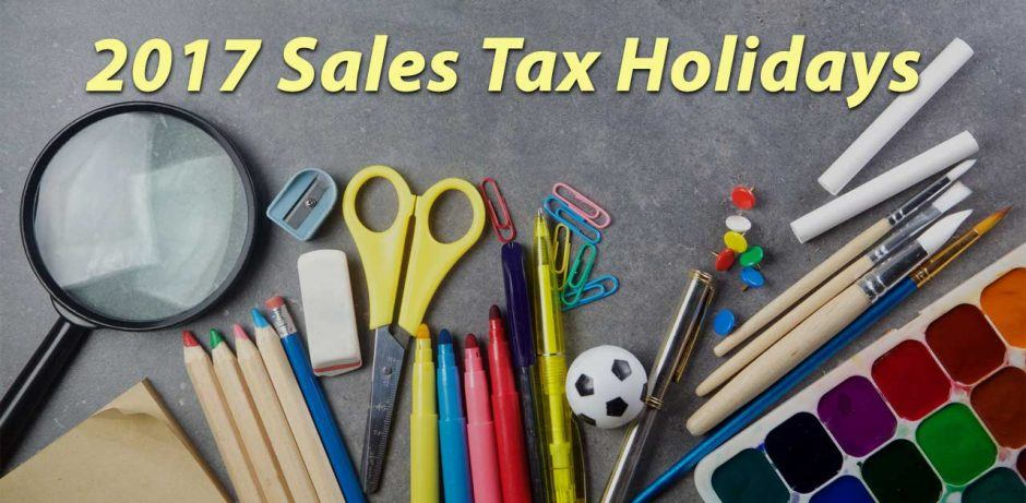 2017 sales tax holidays