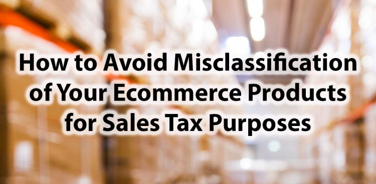 sales tax product classification