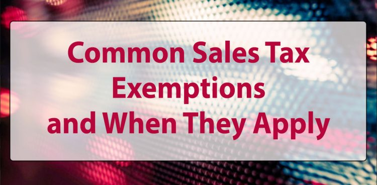 common sales tax exemptions